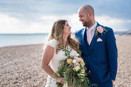 Real Weddings - Charlotte & Andy's simply beautiful seaside wedding