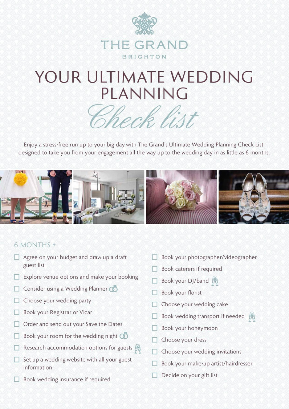 The Grand's Ultimate Wedding Planning Check List