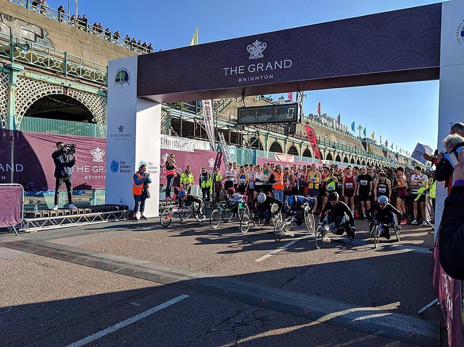 Thousands of runners take part in The Grand Brighton Half Marathon 2019