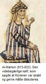 Kaliffen Al-Mamun bekendte sig til mutazilisme