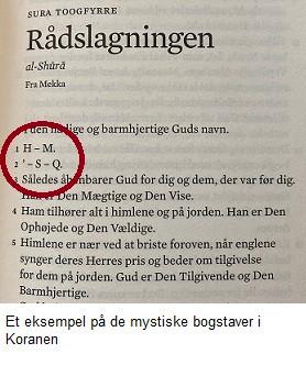 Sura 42 - et eksempel på de gådegulde bogstaver