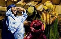 Noah prædiker og folk ler.jpg