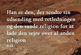 sura 9 vers 33 - Allahs sag
