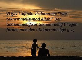 sura 31 ver 12 - Luqman og taknemmelighed i islam