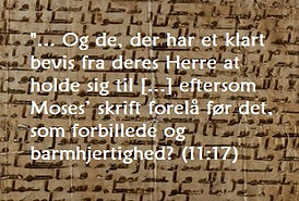 Sura 11 - om Moses' skrift
