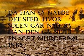 Mirakler i Koranen - solen går ned i mudderpøl
