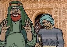 Abdullah ibn abi Sahr skriver Koranen