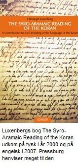 Christoph Luxenbergs bog om at læse Koranen på Aramæisk