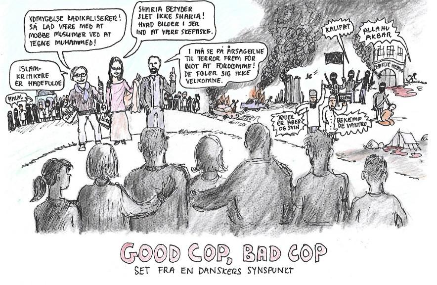 De moderate muslimer og islamisterne: Good cop og Bad cop