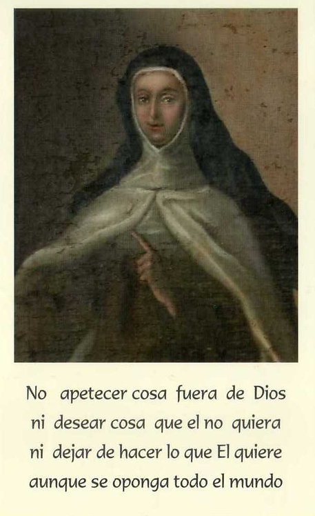 """Estampa Madre María Antonia """"No apetecer cosa..."""""""