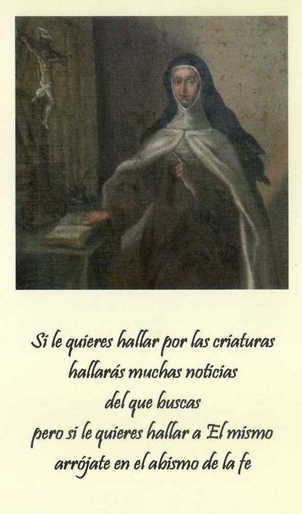 """Estampa Madre María Antonia """"Si quieres hallar..."""""""