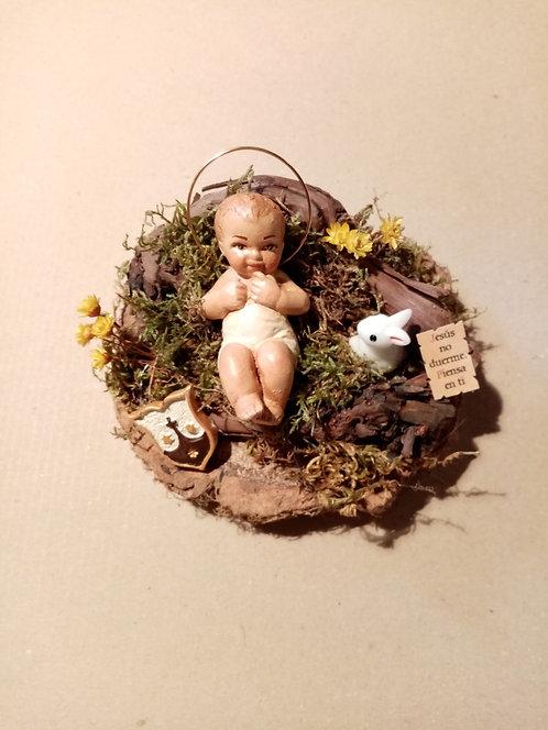 Niño Jesús con conejito