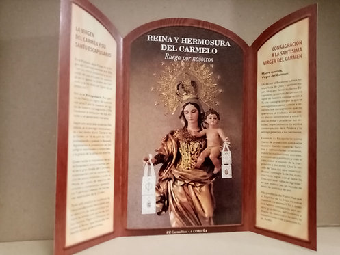 Triptíco Virgen del Carmen