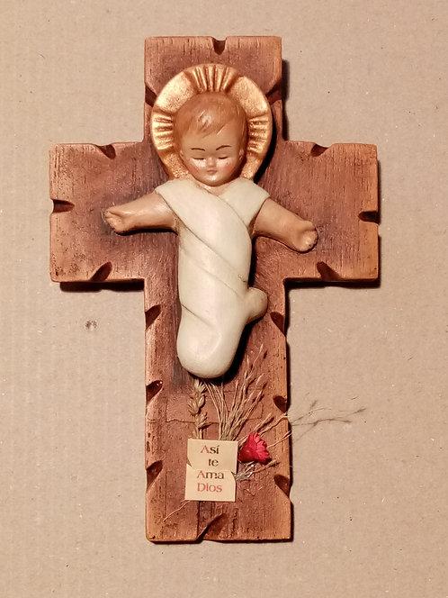 Niño Jesús en la cruz (pequeño)