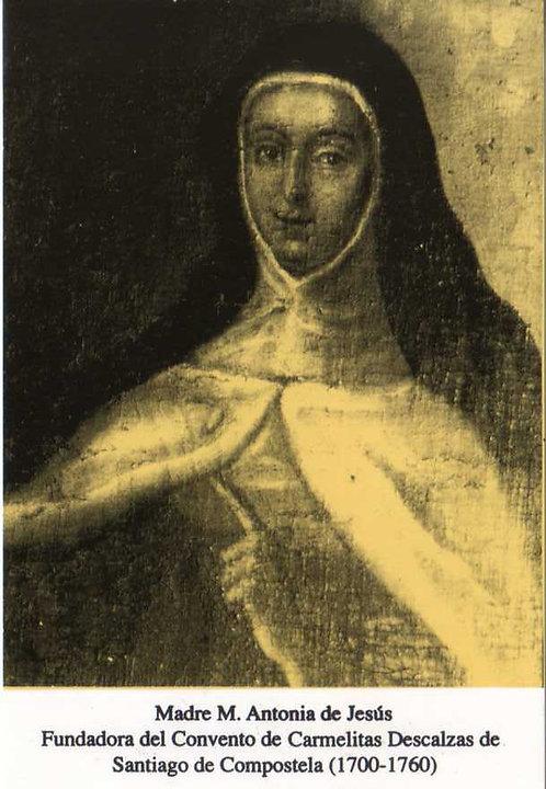 Estampa Madre María Antonia antigua