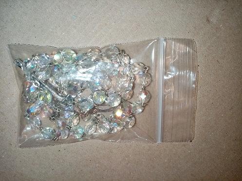 Rosario cuentas de cristal transparentes