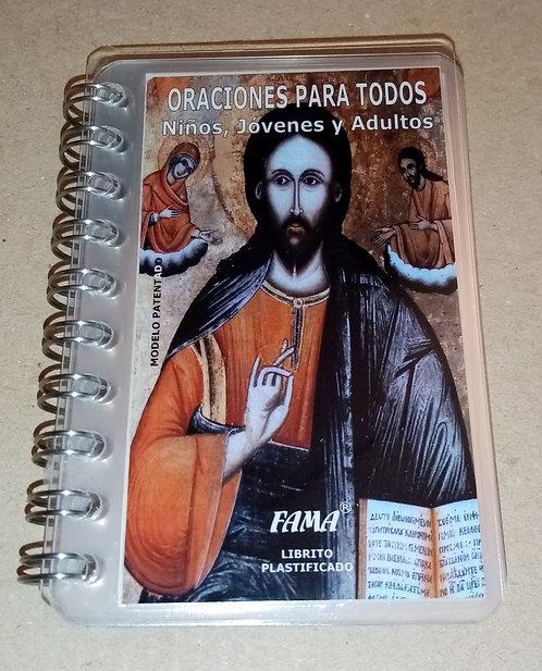 Librito plastificado Oraciones para todos