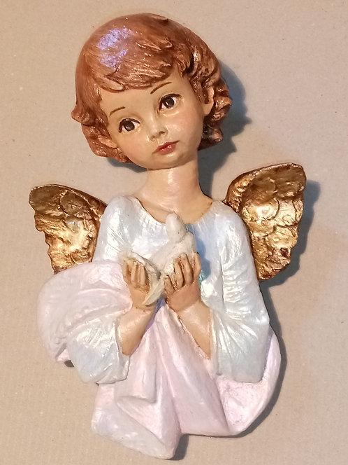 Angelito de la paloma rosa