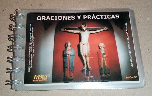 Librito plastificado Oraciones y prácticas