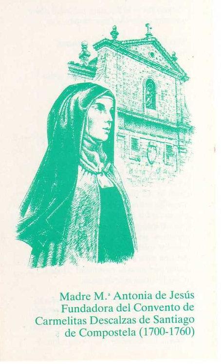 Estampa Madre María Antonia y Convento