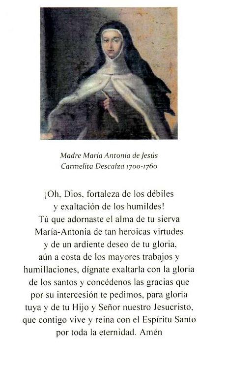 Estampa Madre María Antonia original
