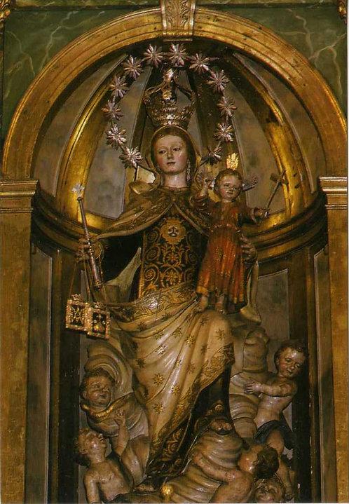 Estampa Virgen del Carmen Compostela altar mayor