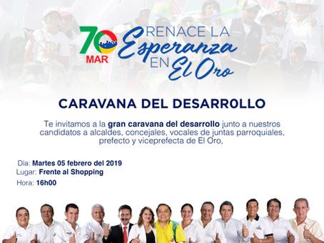 Con multitudinaria caravana el Movimiento MAR 70 iniciará su jornada electoral.