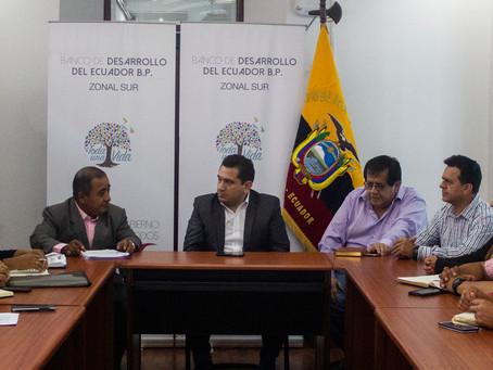 Alcalde electo Richard Cartuche realizó gestiones en Loja, en beneficio del cantón Chilla.