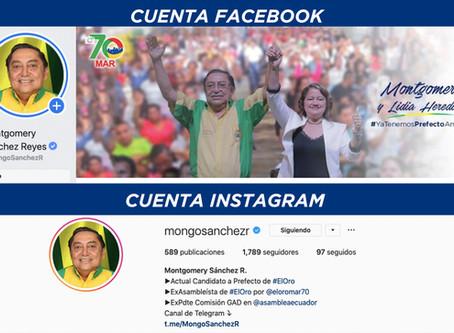 FACEBOOK e INSTAGRAM, reconocen cuentas de Montgomery Sánchez Reyes como de mayor interacción