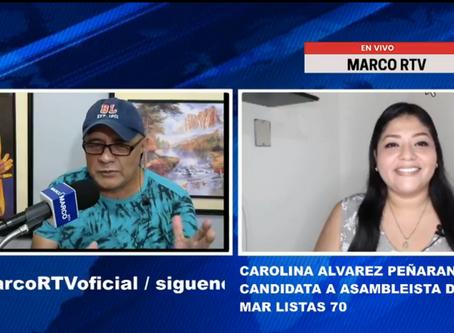 CAROLINA ÁLVAREZ COMPARTE SUS PROPUESTAS CON MIRAS A LOS COMICIOS ELECTORALES 2021