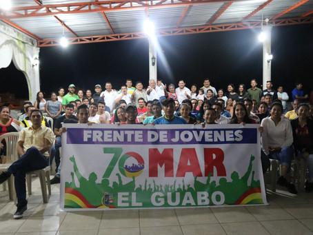 """Hittler """"KIKE"""" Álvarez y el ex asambleísta Montgomery Sánchez Ordóñez escucharon a jóvenes guabeños"""