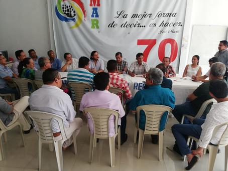 Directiva del movimiento MAR, mantuvo reunión con autoridades electas.