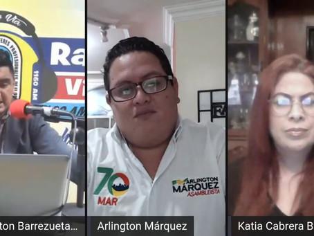 DIÁLOGO CON ARLINTONG MÁRQUEZ SOBRE DESARROLLO Y POLÍTICA EN ESTA NUEVA CONTIENDA ELECTORAL