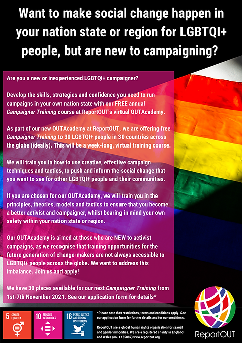 OUTAcademy Campaigner Training Poster.pn