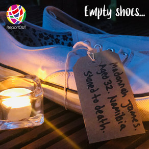 ReportOUT Launches Empty Shoes Campaign - Lets Break the Silence