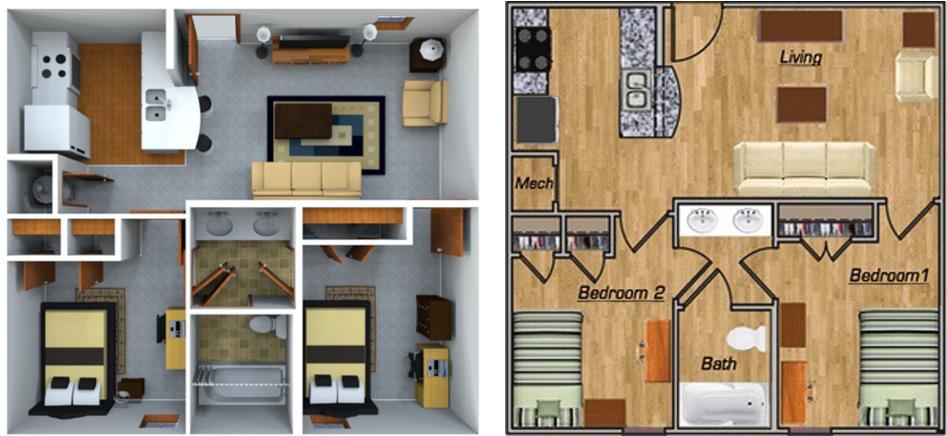2_Bedroom_1_bathroom_Floor_Plan