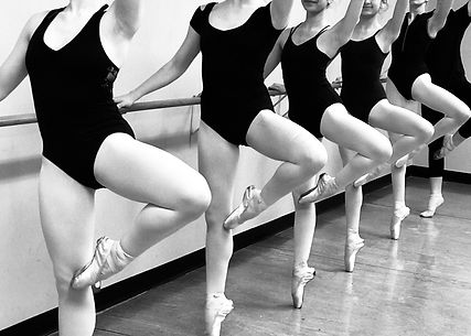 Ballet students in class at Barriskill Dance Theatre School in Durham, NC