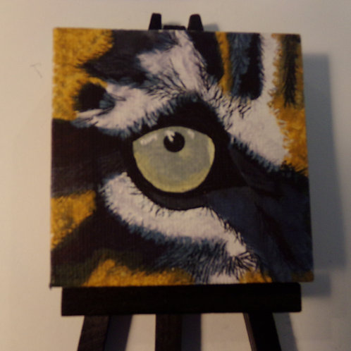 #164 tiger eye 3x3 inch with easel