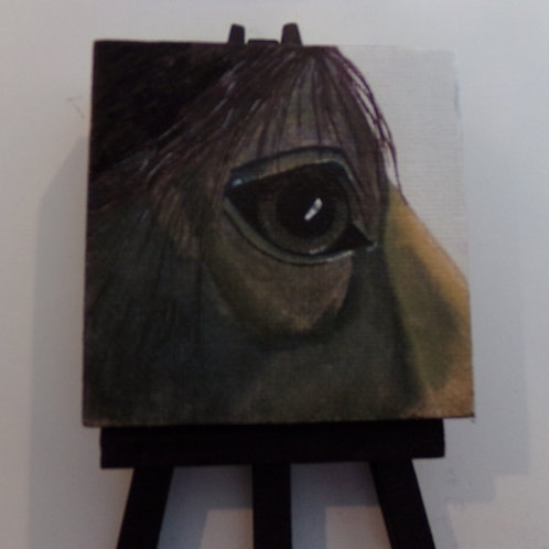 #175 horses eye 3x3 inch with easel