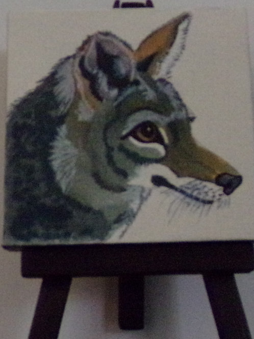 #210 fox 3x3 inch with easel