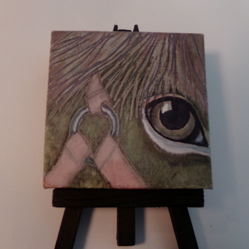 #222 horses eye 3x3 inch with easel