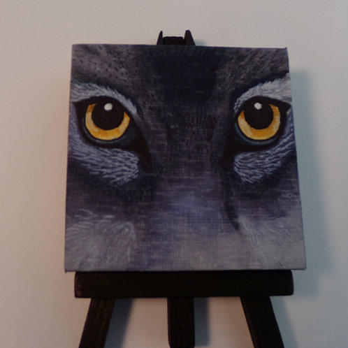 #219 black cat 3x3 inch with easel