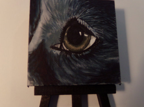 #167 dogs eye 3x3 inch with easel