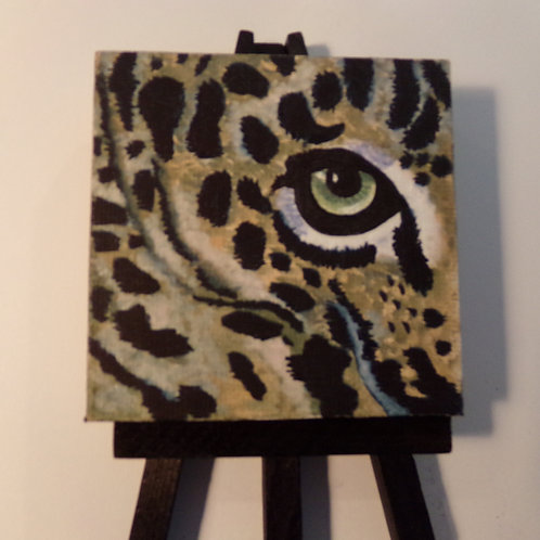 #169  tiger eye 3x3 inch with easel