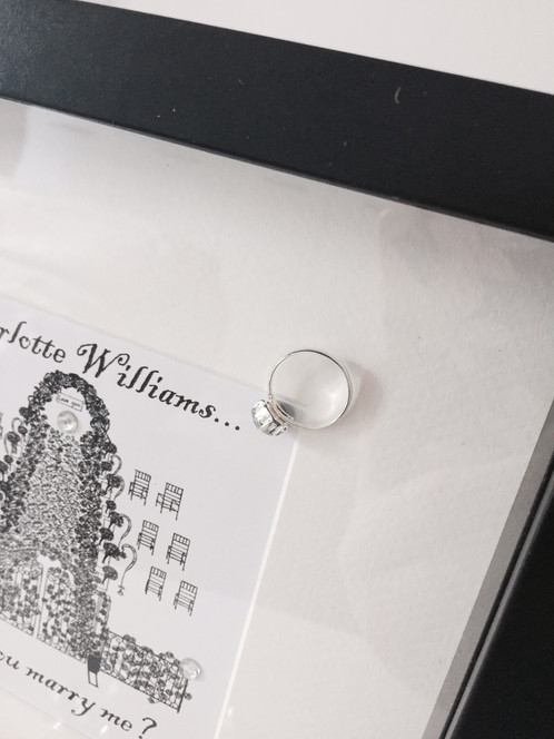 Personalised Will You Marry Me Proposal Print With Frame Home