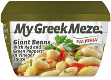 My Greek Meza - Giant Beans ; W/ Red Peppers - Palirria