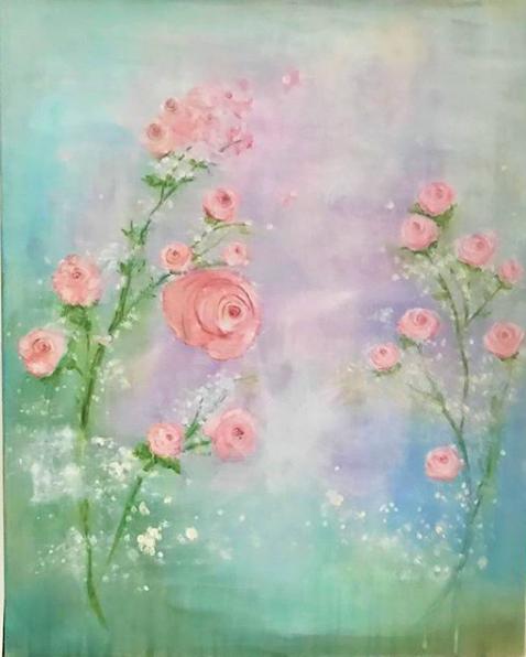 acrylic roses