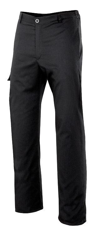 Pantalón de cocina multibolsillos en negro liso, negro con rayas o negro cuadros