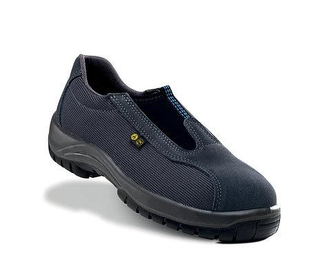 Zapato industrial sin cordones S3+SRC+CI gris y negro