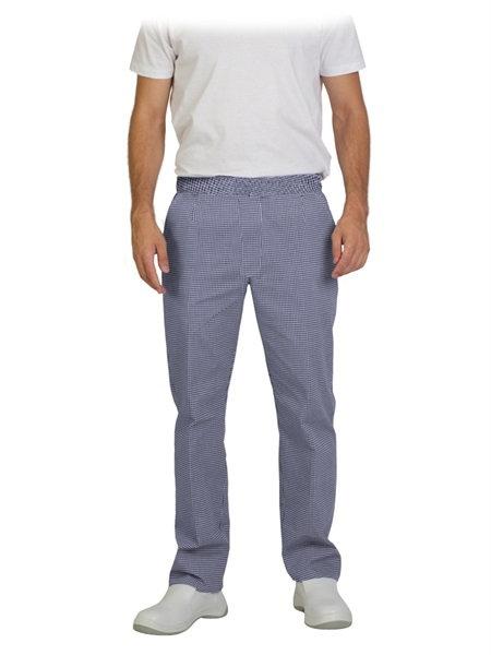 Pantalón de cocina cintura de goma color a cuadros